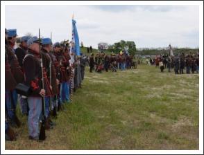 Kiképzés és hadijáték Komáromban (forrás: 2. Honvéd Zászlóalj)